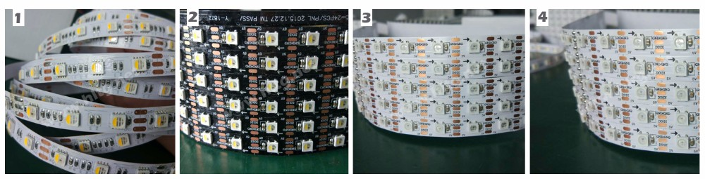 Full color Black RGBW SMD5050 Led digital Strip supported 2812 /9803/2811 programmed with 3 year warranty