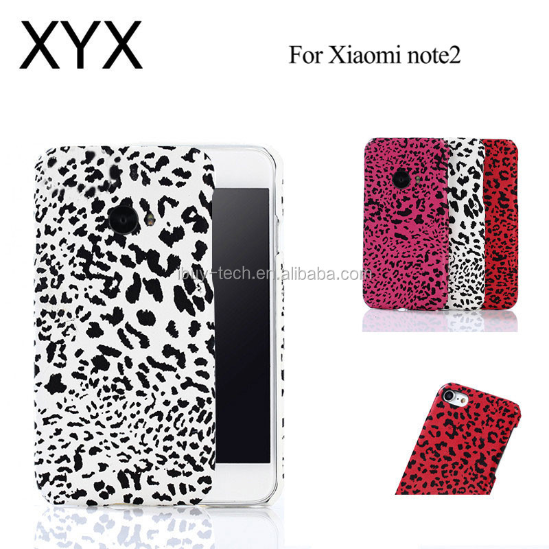 Attractive design and elegant appearacne PC leather back case for xiaomi redmi note 2