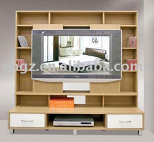 Living room TV wall wooden mounted cabinet