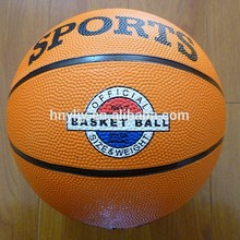 Colorful Rubber material basketball size 7 6 5 4 3