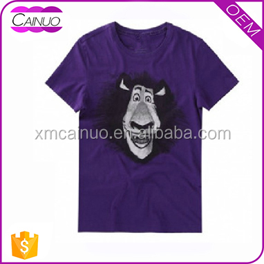 New designed animal print tshirts custom own prefered images