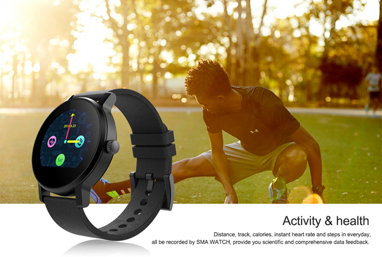 300MAH Battery MTK2502C Heart Rate/ECG Sleep Monitoring Touch Screen Smart Watch Heart Rate