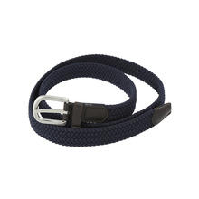 Fashion cheap casual braided cotton weave ladies dress belt with pu leather covered belt buckle