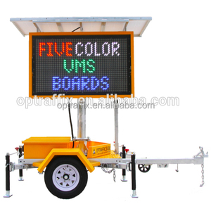 Outdoor Traffic Programmable Trailer Mounted Dynamic Variable Message Board Portable 5 Colour Vms