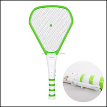 HQ-8011 LED light Rechargeable Mosquito Bat with USB port cable