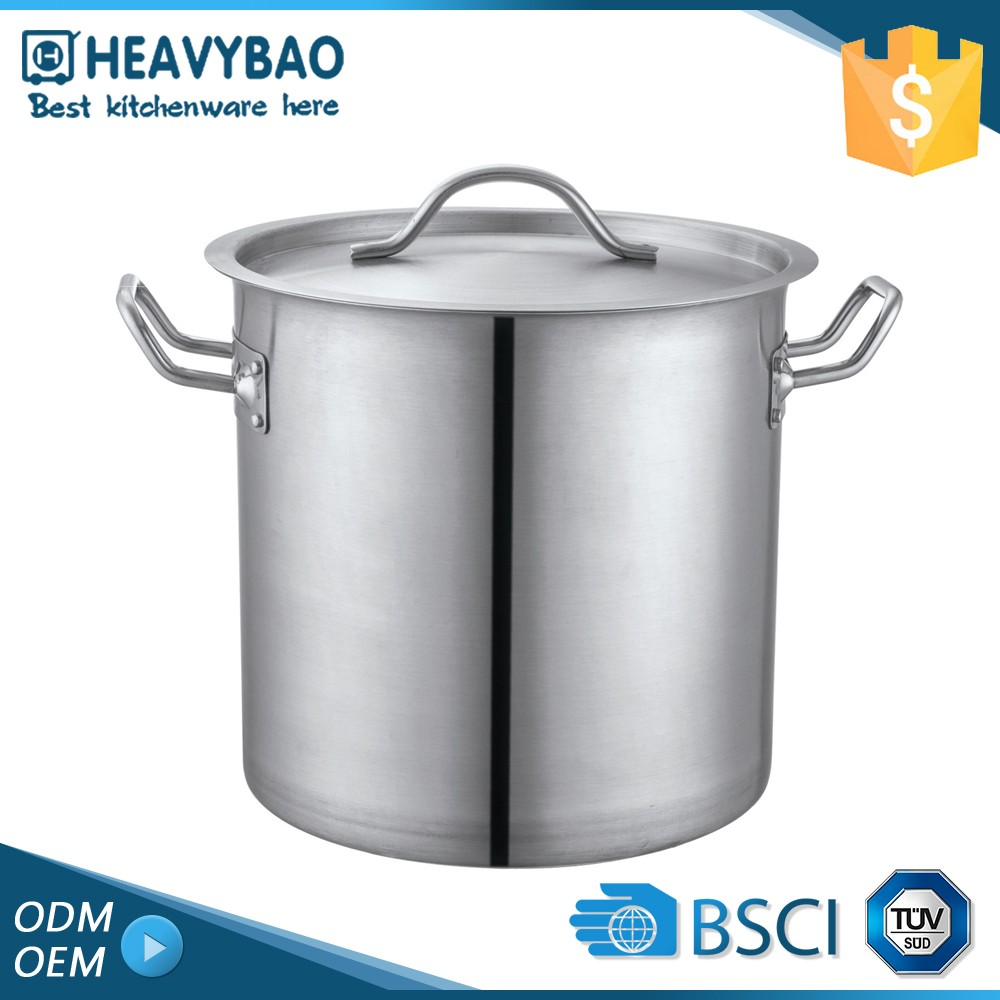 Samples Are Available Kitchen Accessories Satin Polishing Steel Restaurant SS Soup Pot