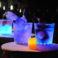 Hot selling led large ice bucket with stand