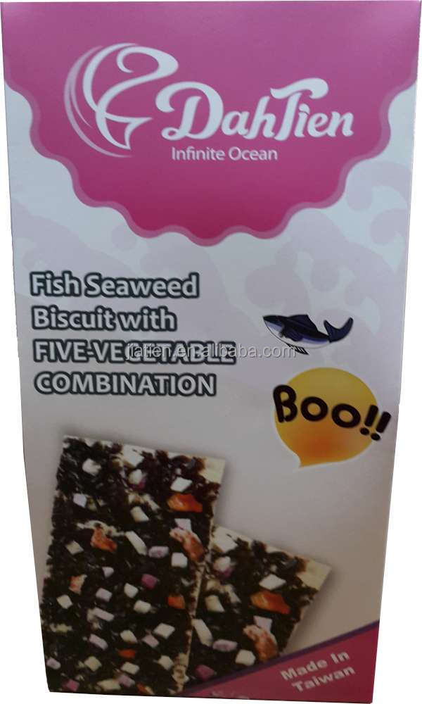 Fish Seaweed Biscuit with Five- Vegetable Combination
