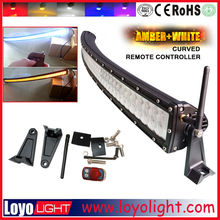 "LOYO 50"" 288W led curved / straight light led amber flashlight bar off road lightbar for jeep"