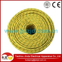 High strength polyester yellow braided rope wear-resisting