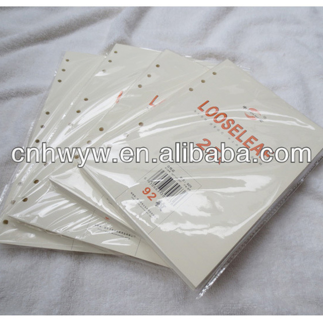 Loose leaf paper/bulk writing paper for notebook/spiral book