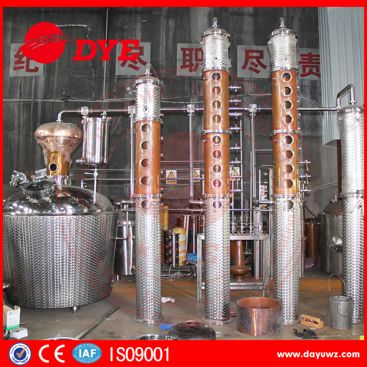 stainless steel steam distillation machines/vodka still