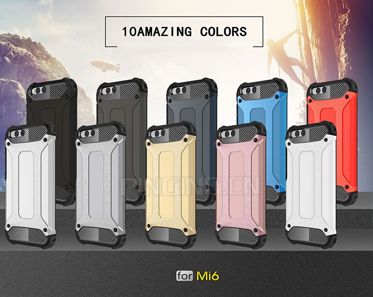 Wholesale For Xiaomi Mi 6 Cases Rugged Impact Dual Layer Hard Cell Phone Cover Case For Xiaomi Mi6