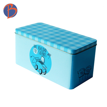 Top Sale rectangular chocolate cake packaging tin box