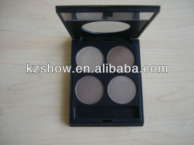 new case new idea hot sell eyebrow 4 colors matte eyebrow 4 colors matte eyebrow with brush