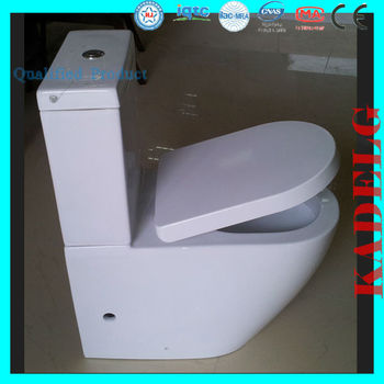 5star Hotel Quality Standard P trap 180mm Toilets with Built-in Bidet