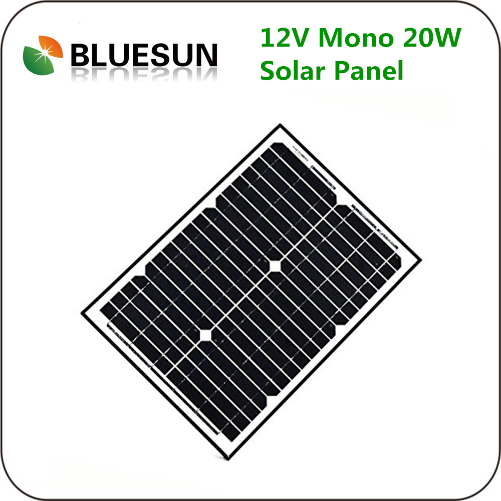 20w 18v monocrystalline siline solar panel 20watt solar cells photovoltaic panels