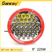 Factory Supplier Super bright DC10-30V IP67 round 9inch 225w led work light
