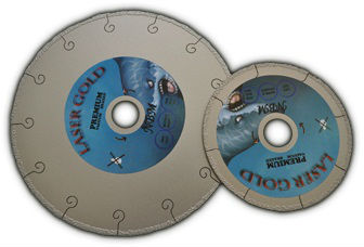 Vacuum brazed disc