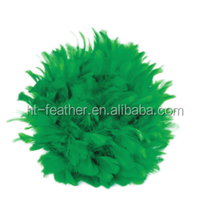 2015 colorful feather ball for wedding wall decoration