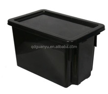 Stackable and nestable plastic storage box, turnover containers