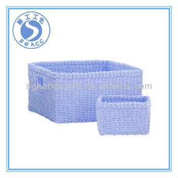 Rectangular Paper Rope Storage Basket
