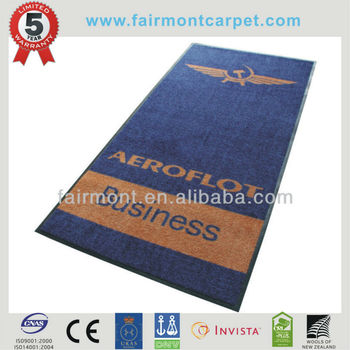High Quality Trade Show Logo Mat Y951, Company Logo Mat, Rubber Backing