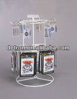 Metal counter spinning display rack for Keychain