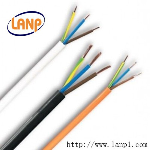 1.5mm 3 Core White Electrical Flex / Cable / Wire. 240 Volt Mains Lead 13 Amp