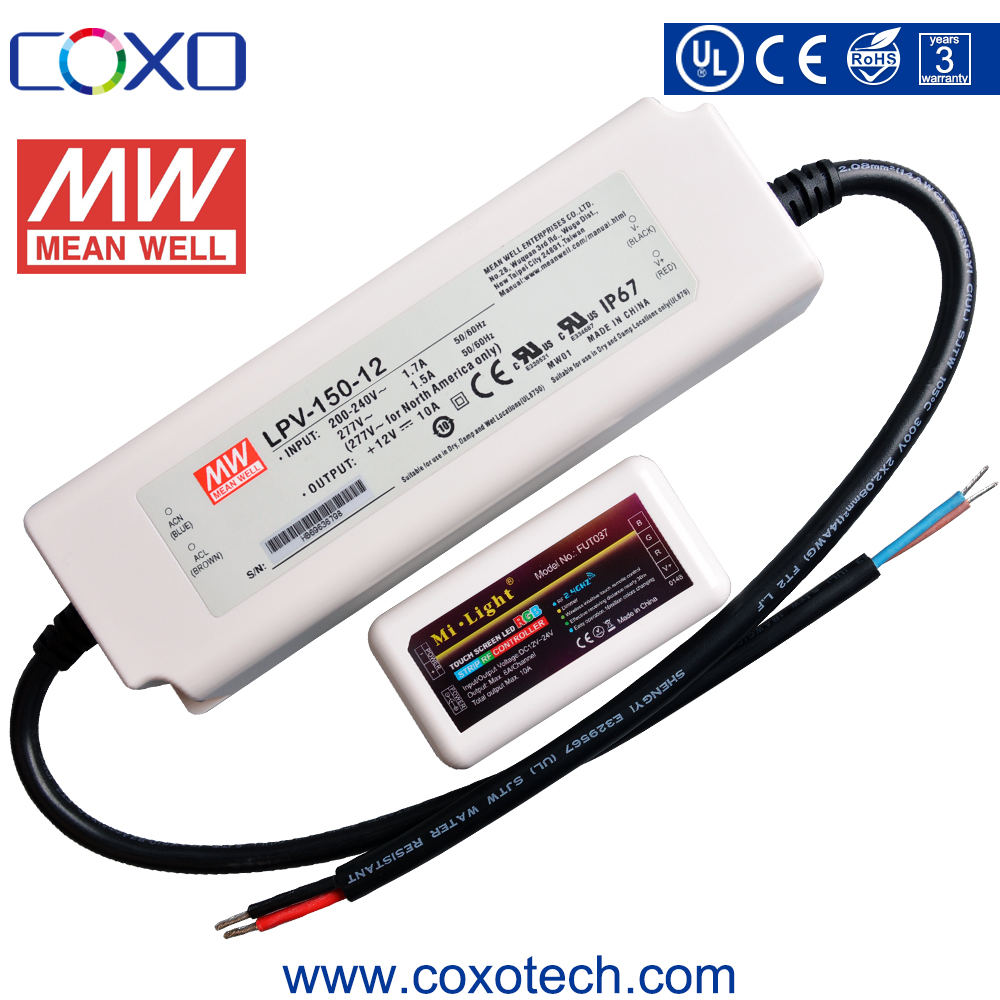 Meanwell LPV-20 DC 5V / 12V / 24V 10A 20W IP67 Waterproof Switching LED Light Power Supply