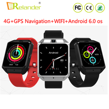 2018 Newest MTK6737 GPS navigation Android 6.0 4G LTE Smart watch phone with 5.0MP camera