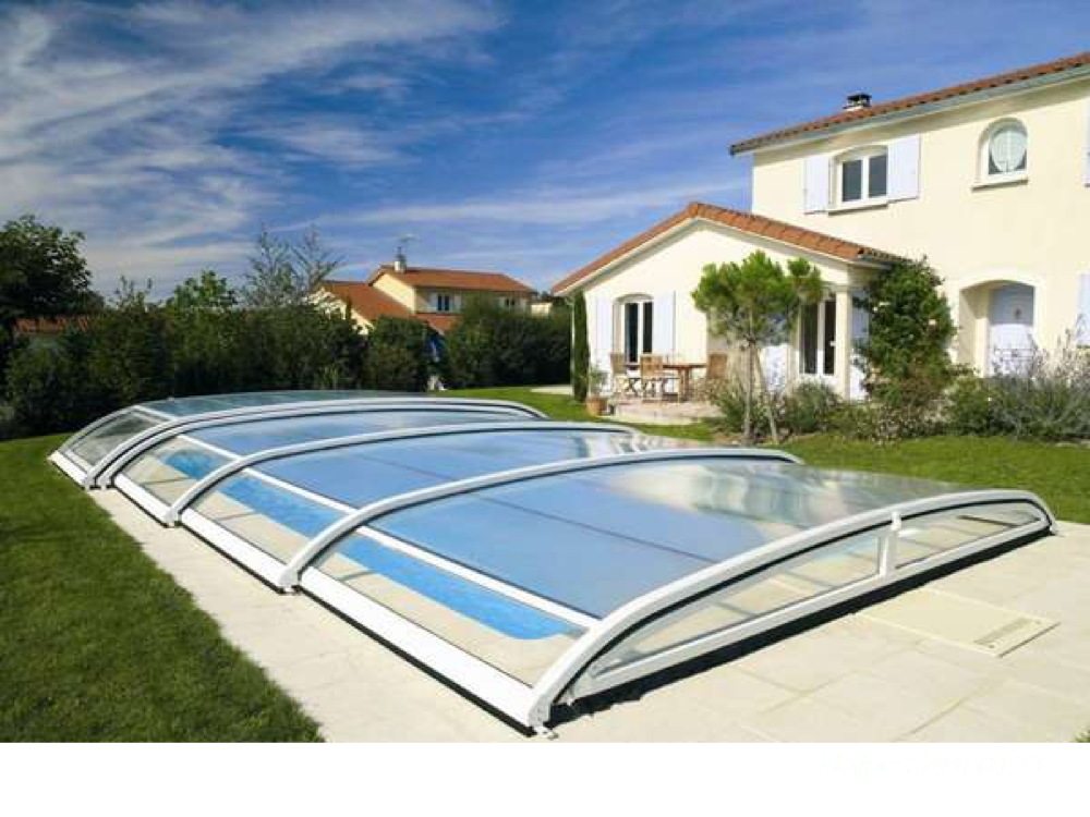 Polycarbonate new hard swimming pool cover buy pc solid for Abri piscine desjoyaux
