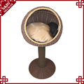 Wholesales factory washable PE plastic rattan cat tree house