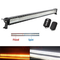 "52"" 300W Amber/White Stroboflash Remote LED Light Bar Offroad 4X4 UTE Jeep 36W/120W/180W/240W Led Bar"