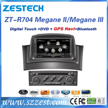Zestech manufacture auto parts for Renault Megane ii megane iii touch screen car dvd car gps stereo support phone connect radio