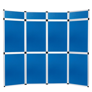 Custom event display folded panel banner backdrop stand