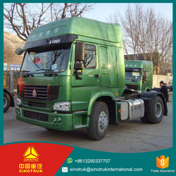 sinotruk truck 4*2 manual operation 371HP tractor truck low price for sale