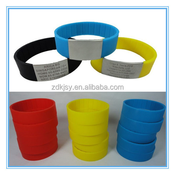 Hot Sale Custom Printed silicone bracelets wristband wholesale