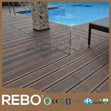 Strand woven bamboo swimming pool decking tiles