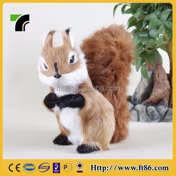 Lovely handmade animal prop small gift squirrel kids toys