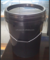 black plastic bucket 20 liters