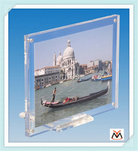 funia photo frame with base,stand acrylic photo frame,nice acrylic picture frame