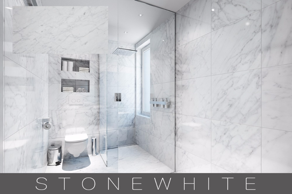 Chinese White marble bathroom wall tile design