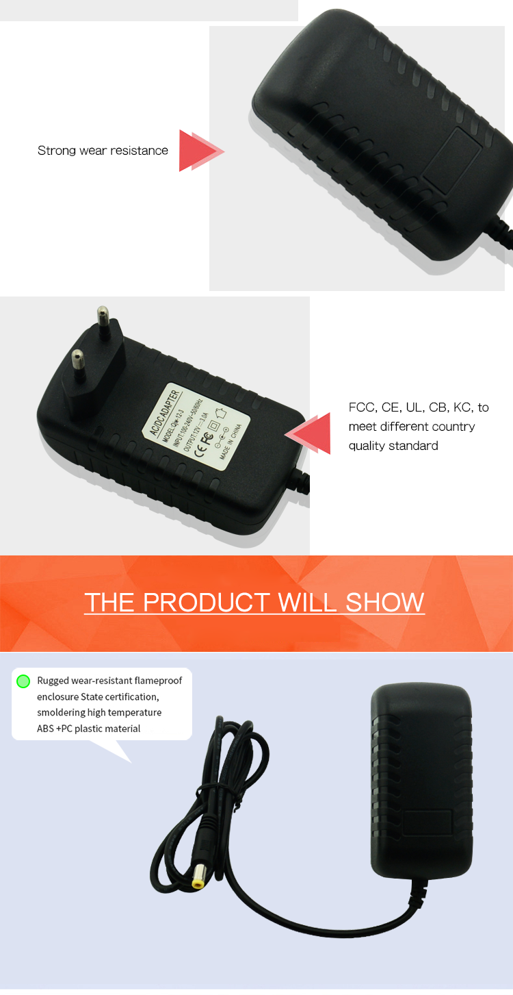 Plug type UK Plug CE RoHS FCC BS Input AC 100-240V Output 15V 1A power supply adapter