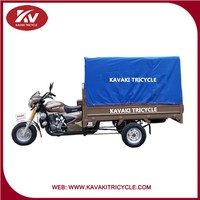 2015 KAVAKI brand good quality and safety 3 wheel cargo tricycle with tarpaulin