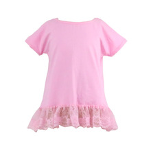 Unique design 2017 Kaiyo lace ruffle branded toddler clothes boutique wholesale latest clothes for girls toddler kids shirts
