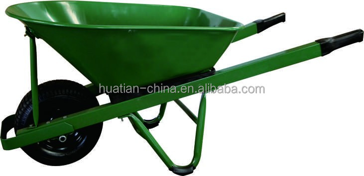 90L Metal green color wheel barrow,Industrial Steel Tub Wheelbarrow