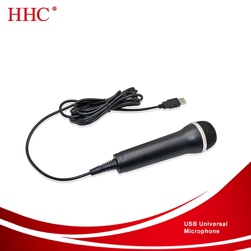 Universal Handheld USB Audio Wired Karaoke Microphone Mic for PS4 / Slim / Pro for PS3 / Xbox One S / 360 Wii PC