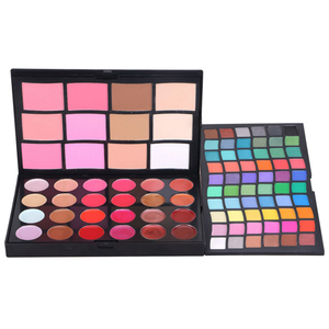 96 color multi colored eyeshadow palette with lip gloss blusher concealer Make your own brand