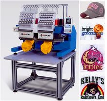 Top quality new 2 head computer embroidery machine prices like used embroidery machine